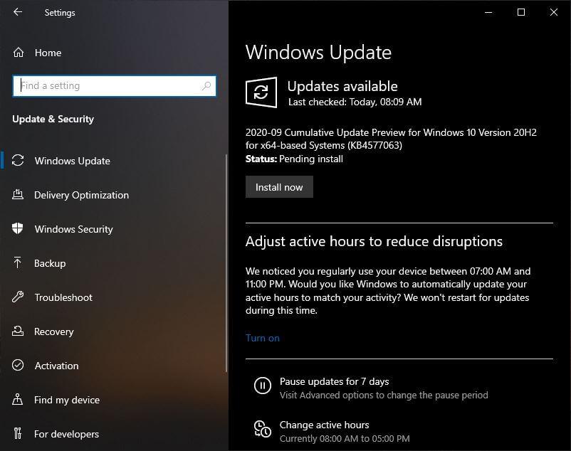 Windows 10 Automatic Update