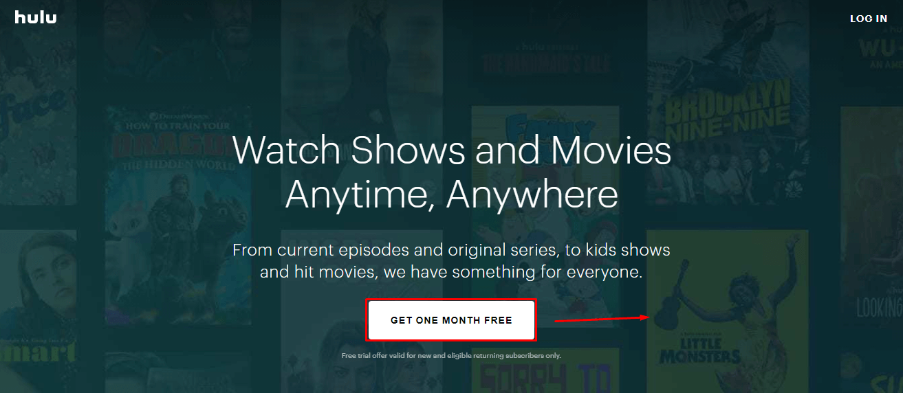 free sign up for hulu