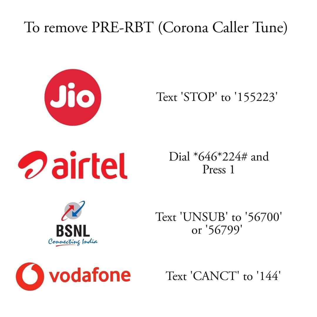 stop corona caller tune