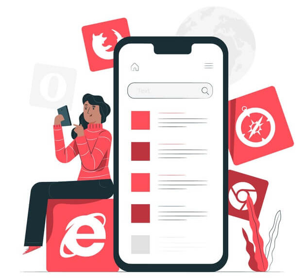 mobile-browsers-concept