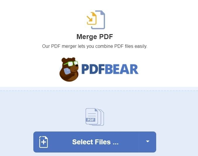 Merge PDF with PDFbear