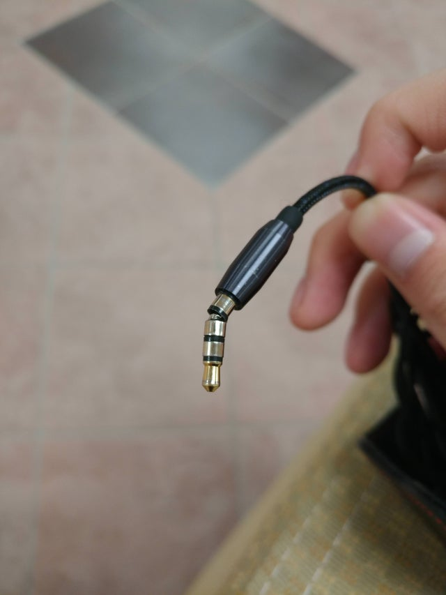 Bent Headphone Plug