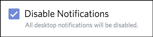 Disable Notifications