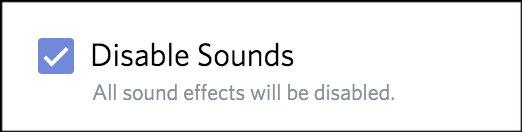 Disable Sounds