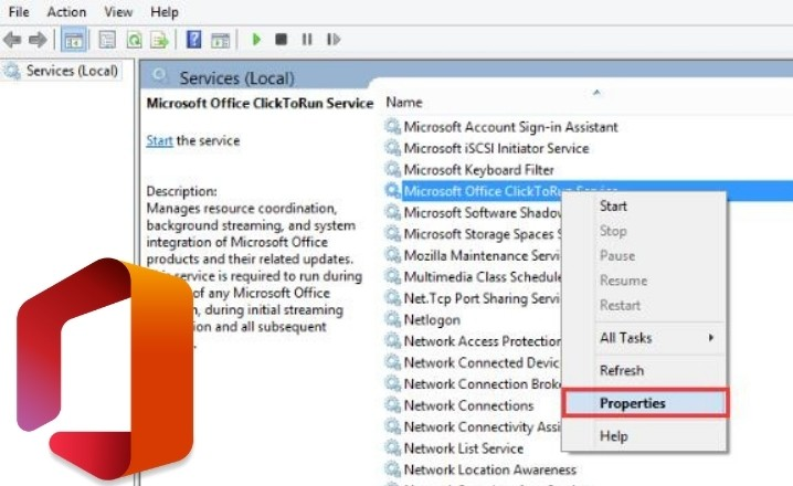 microsoft office click to run high disk