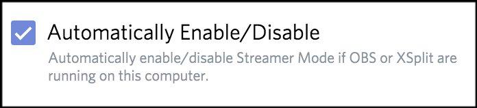 toggle turning Streamer Mode off