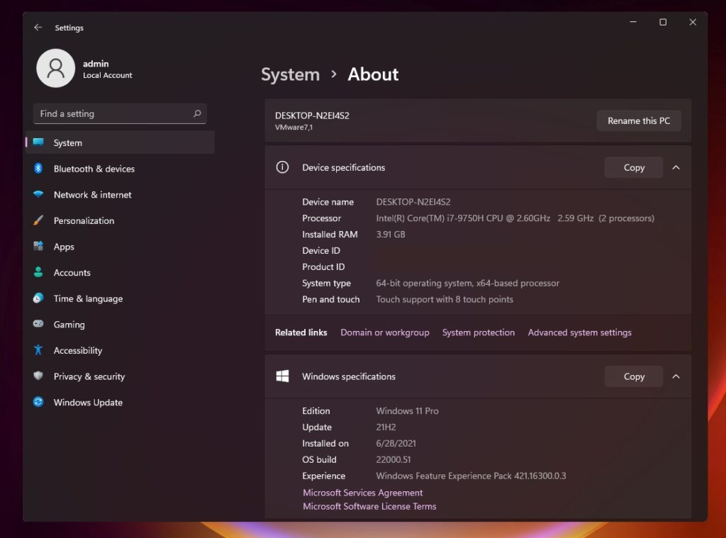 Windows 11 Build 22000 (RTM)