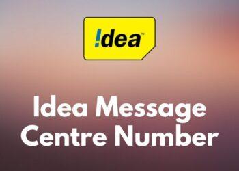 Idea message centre number