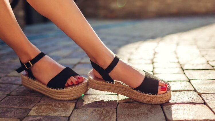 Weared Women Sandals