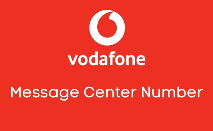 vodafone message center numbers
