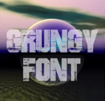 grungy typeface